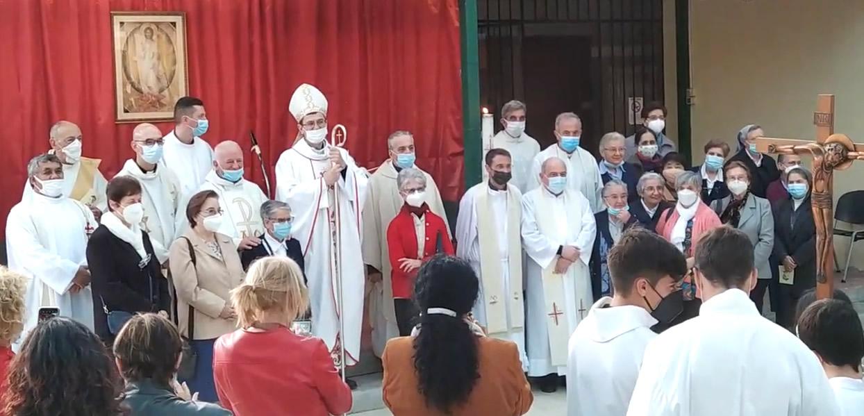 Messa per i 25 anni di presenza delle suore carmelitane nella parrocchia della Resurrezione a Giardinetti, 21 maggio 2021