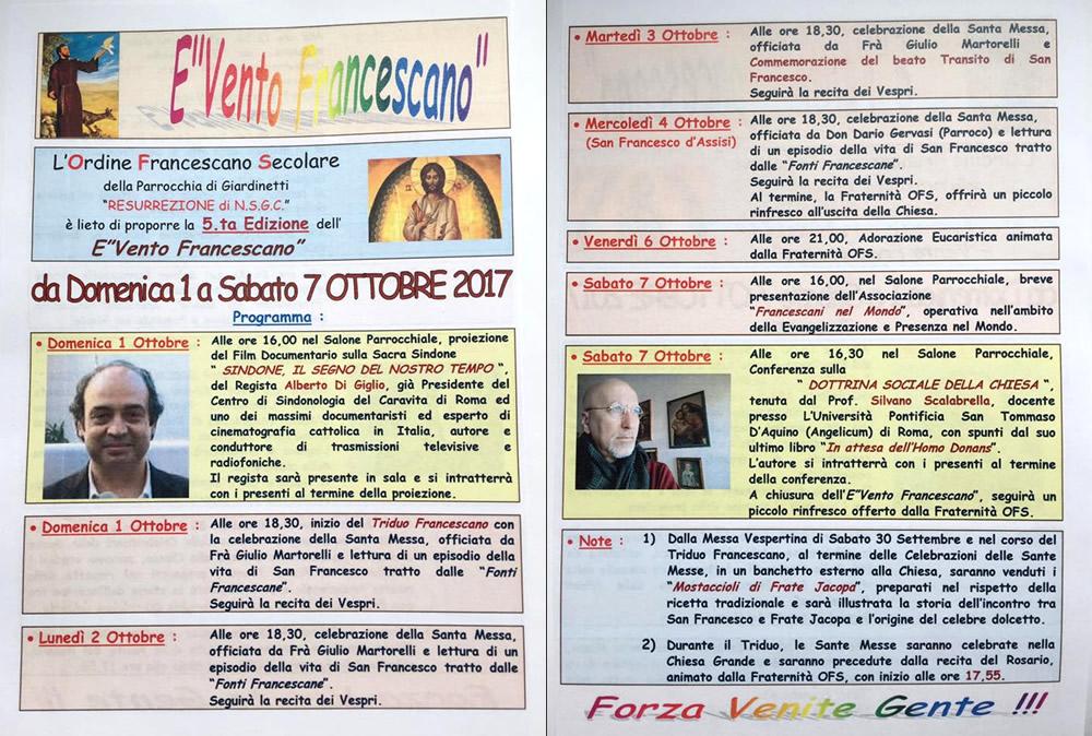 evento francescano OFS 2017