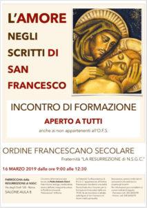 incontro francescano 16 marzo 2019