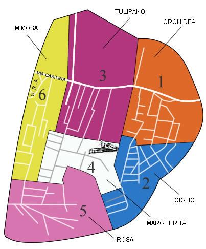 Mappa dei Sestieri
