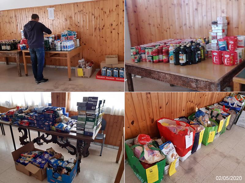 raccolta alimentare caritas 2 maggio 2020